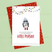 Little Person Christmas Card Deck The Halls Range