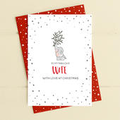 To My Fabulous Wife Christmas Card Deck The Halls Range