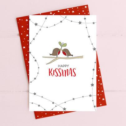 Happy Kissmas Christmas Card Deck The Halls Range