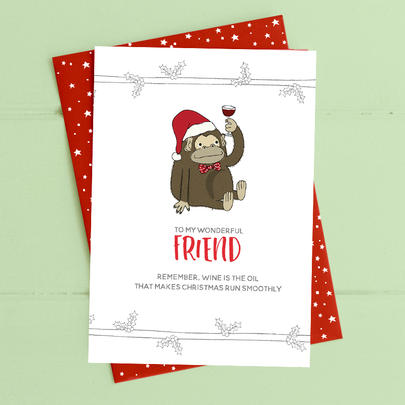 To My Wonderful Friend Christmas Card Deck The Halls Range