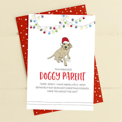 To A Fabulous Doggy Parent Christmas Card Deck The Halls Range