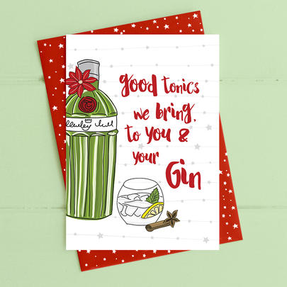 Good Tonics We Bring Christmas Card Gin-gle Bells Collection