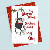 Friend Bring Gin Christmas Card Gin-gle Bells Collection