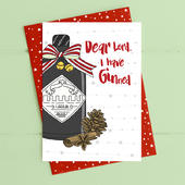 Dear Lord I Have Ginned Christmas Card Gin-gle Bells Collection
