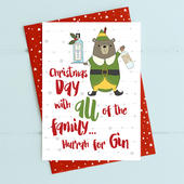 Hurrah For Gin Christmas Card Gin-gle Bells Collection