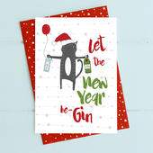 Let The New Year Be-Gin Christmas Card Gin-gle Bells Collection