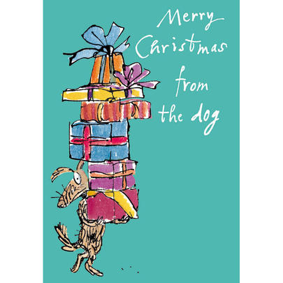 Merry Christmas From The Dog Quentin Blake Christmas Card