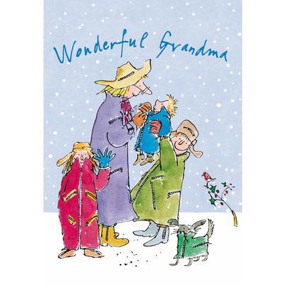Wonderful Grandma Quentin Blake Christmas Card