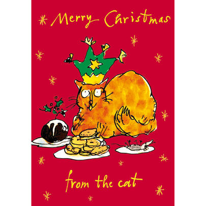 Merry Christmas From The Cat Quentin Blake Christmas Card