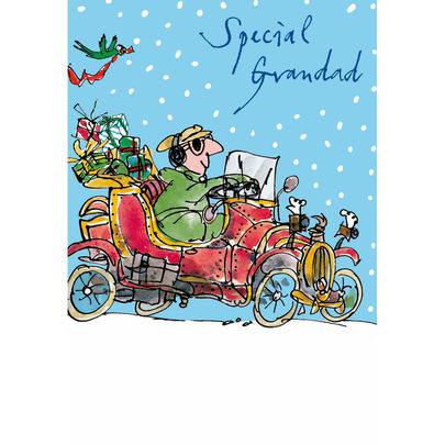 Special Grandad Quentin Blake Christmas Card