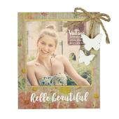 Vintage Boutique Hello Beautiful Wood Effect Photo Frame