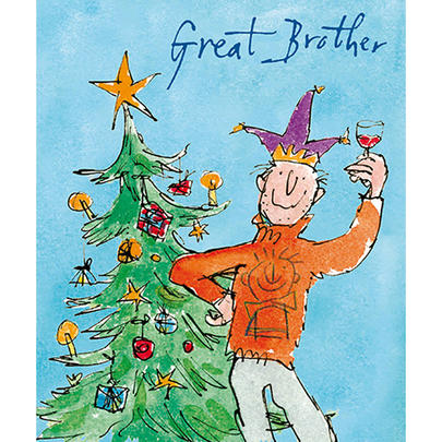 Great Brother Quentin Blake Christmas Card