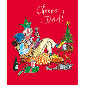 Cheers Dad Quentin Blake Christmas Card