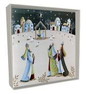 Box of 4 Nativity Hand-Finished Christmas Cards