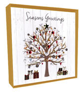 Box of 4 Tree Hand-Finished Christmas Cards