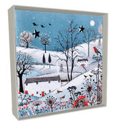 Box of 4 Village Hand-Finished Christmas Cards