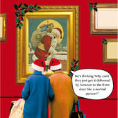 Get It Delivered By Amazon Irene & Gladys Christmas Card