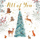 All Of You Winter Forest Christmas Card