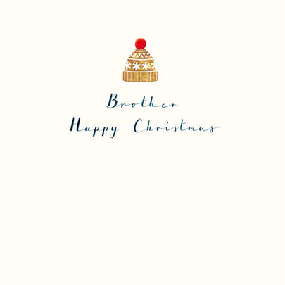 Brother Happy Christmas Gold Foiled Christmas Card