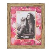 Vintage Boutique Sisters Flowers Wood Effect Photo Frame