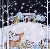 Box of 6 Woodland House Luxury Hand-Finished Christmas Cards