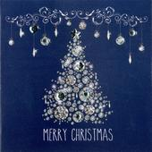 Box of 6 Merry Christmas Luxury Hand-Finished Christmas Cards