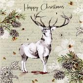 Box of 6 Festive Stag Luxury Hand-Finished Christmas Cards