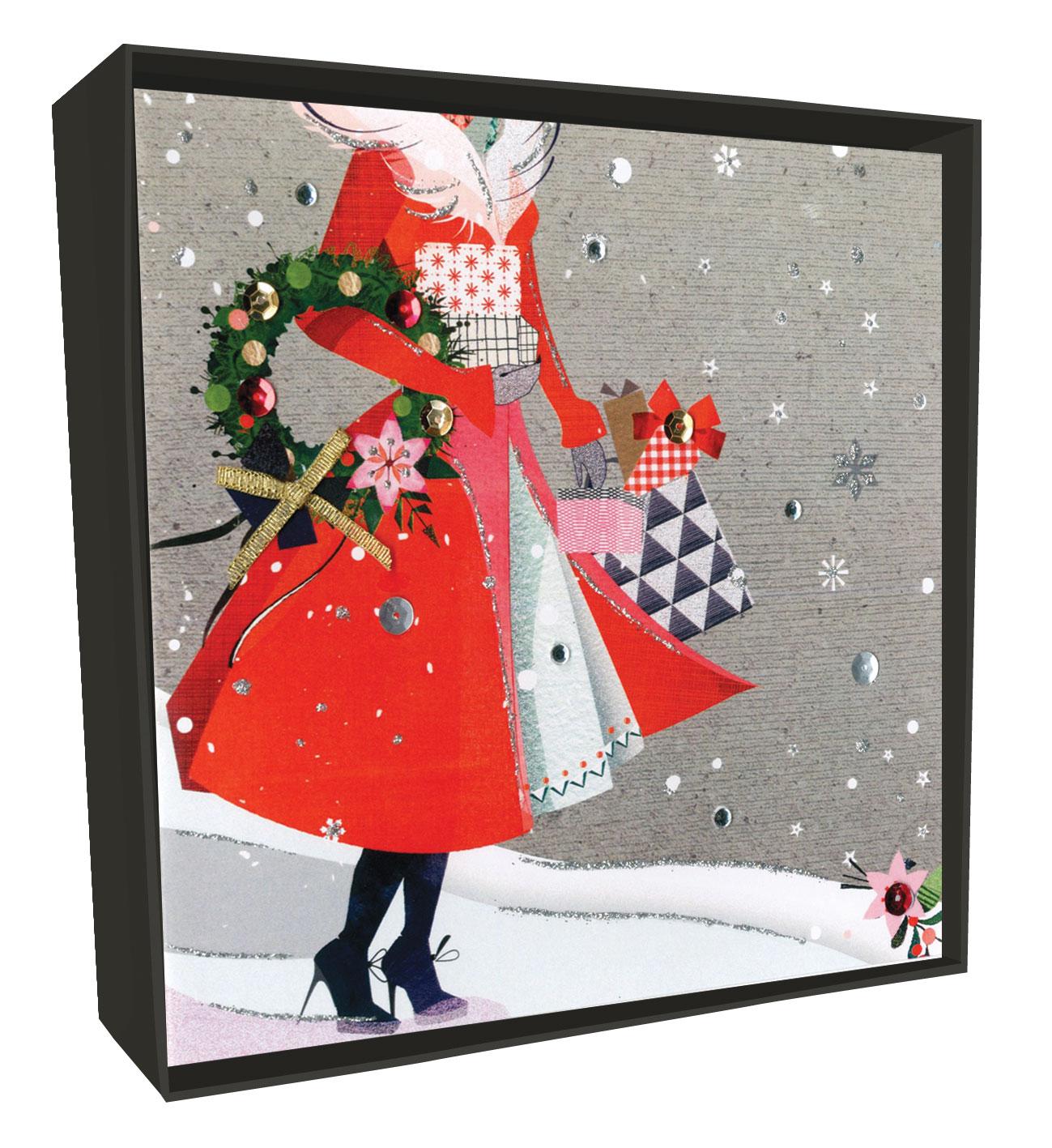 box of 6 christmas shopping luxury handfinished christmas