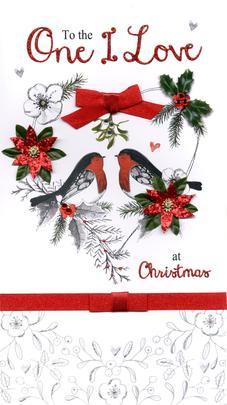 Boxed One I Love Luxury Lavish Keepsake Christmas Card