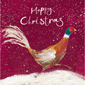 Pack of 5 Cheerful Partridge Childline Charity Christmas Cards