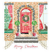 Pack of 5 Gold Foiled Warm Welcome Marie Curie Charity Christmas Cards