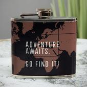 Explore Adventure Awaits, Go Find It! Hip Flask