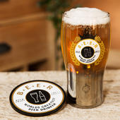 Brewmaster Worlds Greatest Beer Drinker Pint Glass & Coaster