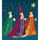Pack of 5 We Three Kings Shelter & Crisis Charity Christmas Cards