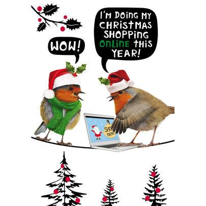 Christmas Shopping Online Funny Crackerjack Christmas Card