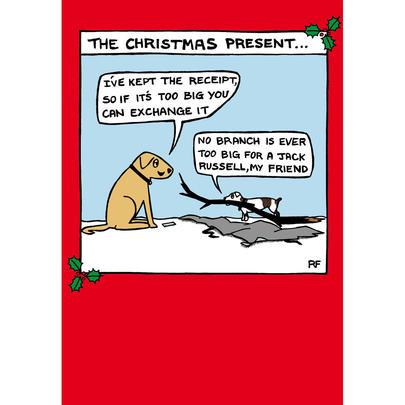 The Christmas Present Off The Leash Cartoon Pet Humour Christmas Card