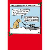 The Christmas Present Off The Leash Cartoon Pet Humour Christmas Card