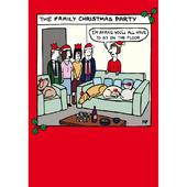 The Family Christmas Party Off The Leash Cartoon Pet Humour Christmas Card
