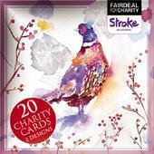 Box of 20 Pheasant & Highland Cows Stroke Fairdeal Charity Christmas Cards