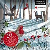 Box of 20 Winter Forest British Red Cross Fairdeal Charity Christmas Cards