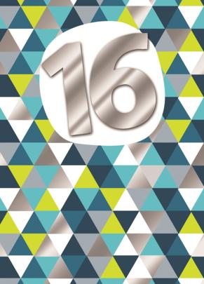 Boys 16th Birthday Simple Pattern Greeting Card