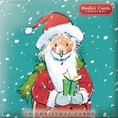 Box of 10 Santa & Rudolph Christmas Cards In 2 Designs By Medici
