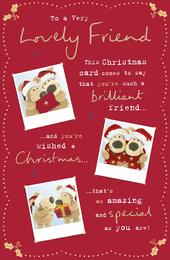 Boofle Very Lovely Friend Christmas Greeting Card