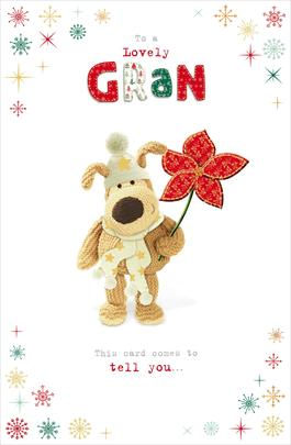 Boofle To A Lovely Gran Christmas Greeting Card