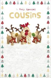 Boofle Very Special Cousins Christmas Greeting Card
