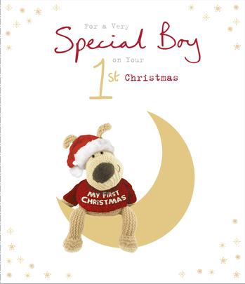 Boofle 1st Christmas Special Boy Christmas Greeting Card