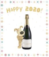Boofle Happy 2020! Christmas Greeting Card