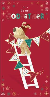 Boofle Great Godfather Christmas Greeting Card
