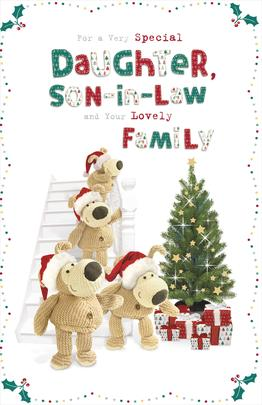 Boofle Daughter, Son-In-Law & Family Christmas Greeting Card