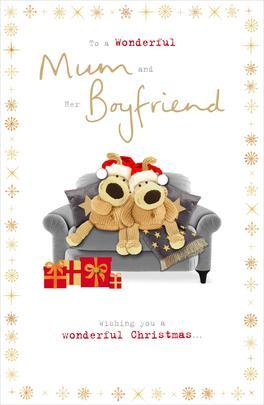 Boofle Mum & Her Boyfriend Christmas Greeting Card